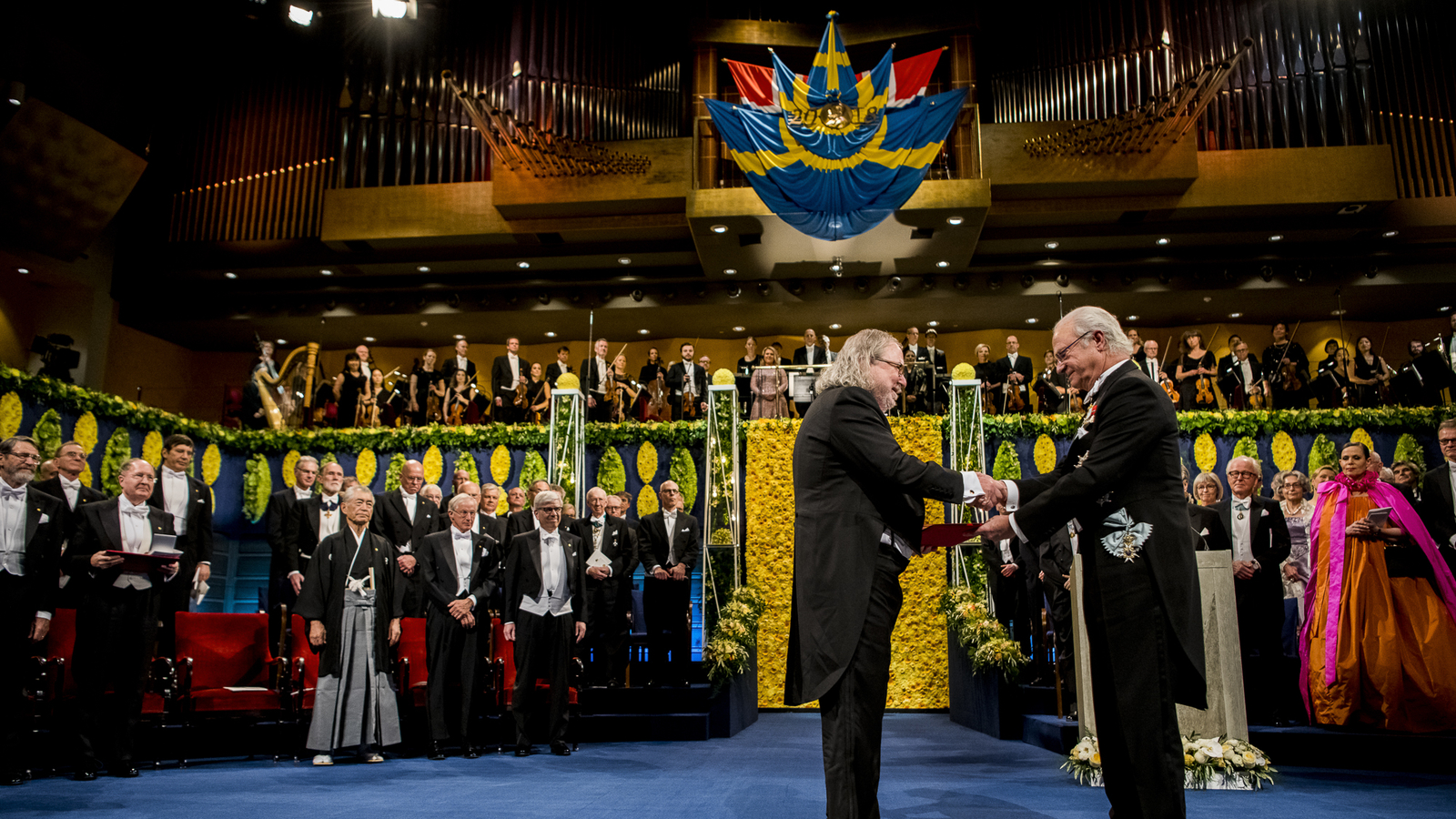 Dr. Jim Allison at the 2018 Nobel Prize Award Ceremony