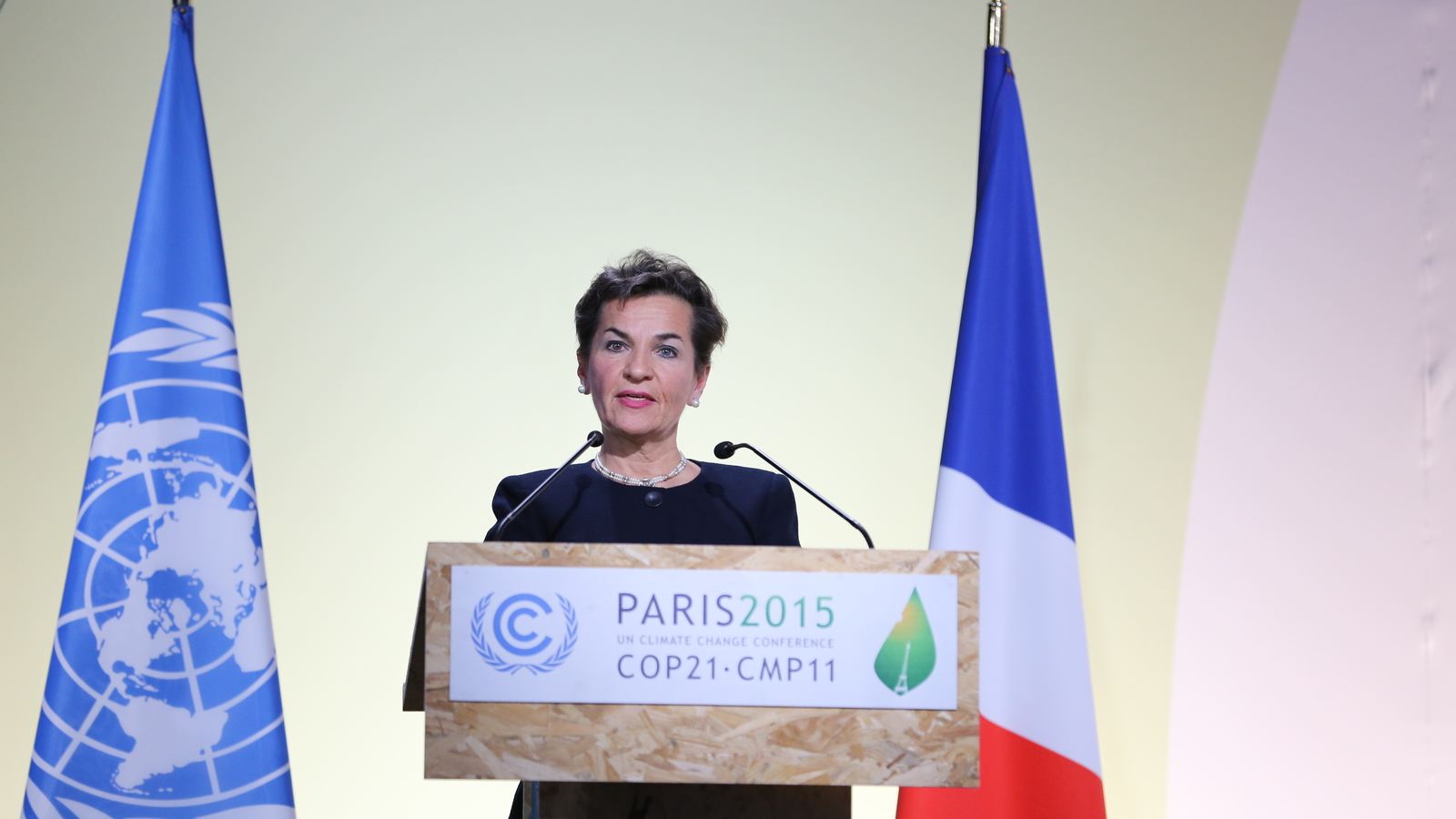 Christiana Figueres at the Paris Climate Change Conference in 2015